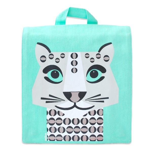 kids-backpack-green-mibo-snow-leopard