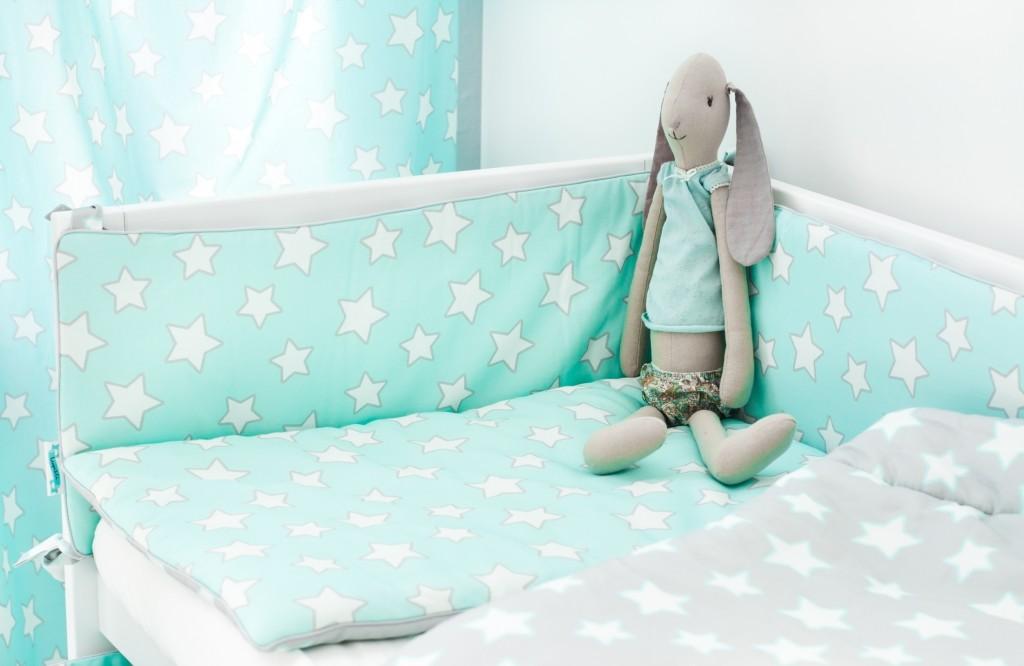 Lamps&co. - Pościel Dziecięca 100 x 135 Grey Stars