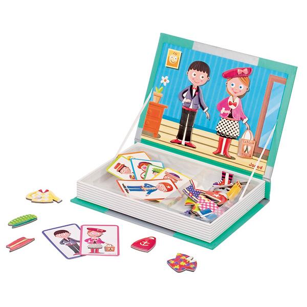 Janod - Magnetyczne Pudełko - Chłopiec i Dziewczynka