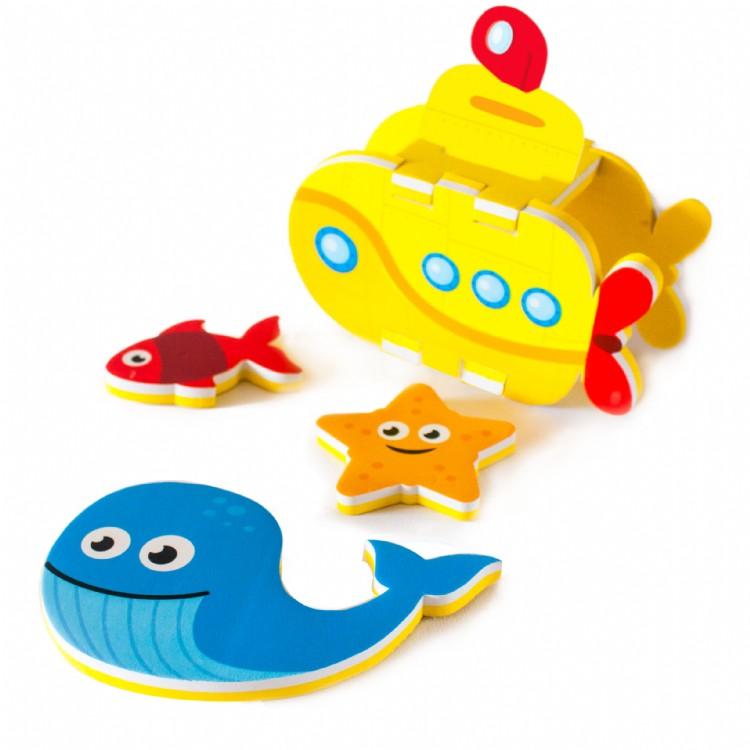 Meadow Kids - Zabawka do Kąpieli Budowanie Łodzi Podwodnej 3D