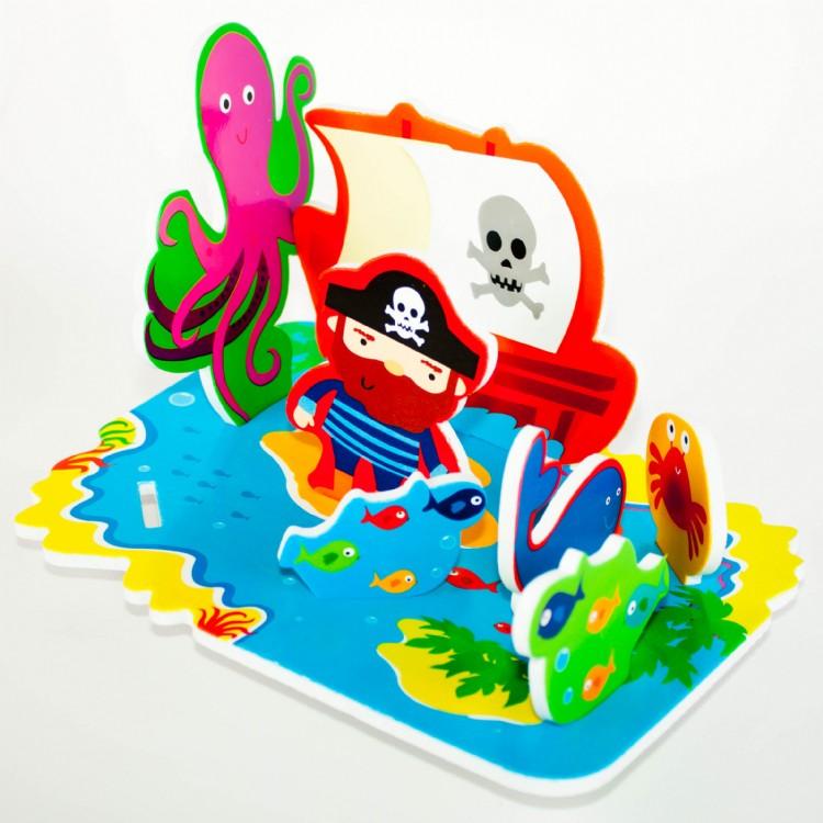 Meadow Kids - Zabawka do Kąpieli Wyspa Skarbów 3D