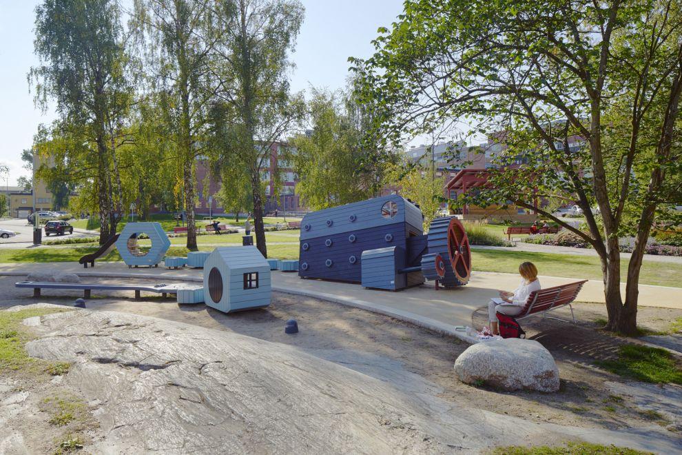 Plac zabaw na placu Marcus Sickla, Sztokholm1