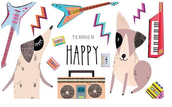 terier happy